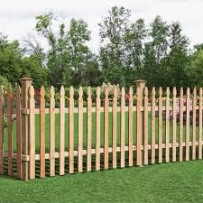 Unbranded 3 1 2 Ft H X 8 Ft W Cedar Spaced French Gothic Fence Panel 63665 The Home Depot Wooden Fence Panels Wood Picket Fence Picket Fence Panels