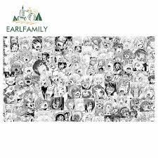 Super Sale B153c Earlfamily 13cm X 7 3cm For Ahegao Face Cartoon Style Decal Windshield Motorcycle Car Stickers Refrigerator Bumper Car Styling Cicig Co