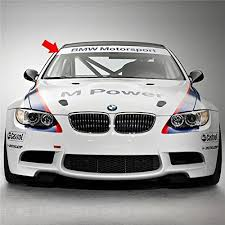 Demupai Front Windshield Banner Decal Vinyl Car Stickers For Bmw M Power Accessories 51 97 X 8 27