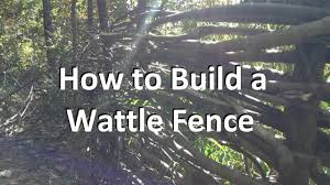 How To Build A Wattle Fence Youtube