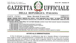 Pubblicato in Gazzetta Ufficiale il decreto-legge n. 19 del 25 ...