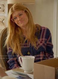 WornOnTV: Abby's navy and pink plaid shirt on 9-1-1 | Connie Britton |  Clothes and Wardrobe from TV