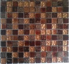 travertine mix foil glass mosaic tile