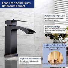 lead free bathroom faucet single hole