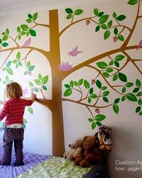 Giant Tree With Birds Wall Decal
