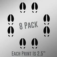 Amazon Com Elk Track Prints 8 Pack 2 Vinyl Decal Sticker Car Waterproof Car Decal Bumper Sticker 5 Kitchen Dining