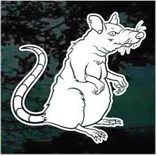 Rat Car Decals Stickers Decal Junky