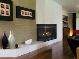 two sided corner gas fireplace corner