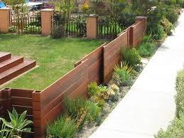 Front Yard Fences Sloped Yard Fence Design Backyard Fences