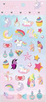 Amazon Com Vinyl Waterproof Cute Unicorn Decal Vinyl Sticker For Diary Laptop Mobile Phone Photo Frame Kids Luggage Kitchen Dining