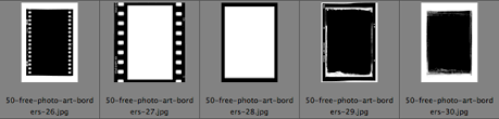 50 free photo frames and borders for