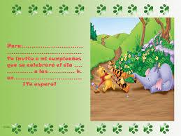 Winnie The Pooh Tigger Playhouse Disney Channe Invitaciones
