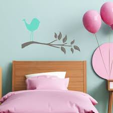 Bird Branch Wall Art Decals Wall Vinyl Stickers For Kids Room Decor