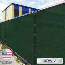4 X 25 Privacy Fence Screen In Green With Brass Grommet 85 Blockage Windscreen Outdoor Mesh Fencing Cove Privacy Screen Fence Screening Privacy Fence Screen