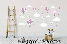 Amazon Com Madras24pl Wall Sticker Air Balloons Wall Decal Baby Wall Decal Sticker Hot Air Balloons Walldecal Decor Air Balloons Girls Boys Nursery Room Decor Wall Art Clouds Home Kitchen