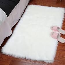fluffy faux sheepskin area