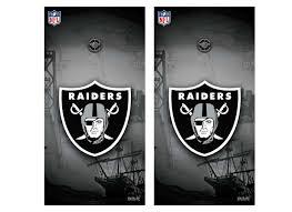 Oakland Raiders Tailgate Toss Cornhole Vinyl Shield Decal Wraps Nfl Oakland Raiders Oakland Raiders Tailgate Toss