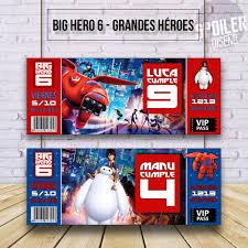 Invitaciones Tarjetas Cumpleanos Big Hero 6 Grandes Heroes 6