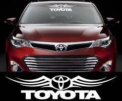 Product Toyota Racing Decal Sticker Car Window Windshield Cars And Motorcycles