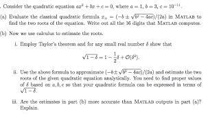 quadratic equation ax 2 bx c