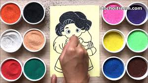 Đồ chơi TÔ MÀU TRANH CÁT công chúa búp bê tóc dài Colored Sand Painting  Toys (Chim Xinh) – Видео Dailymotion