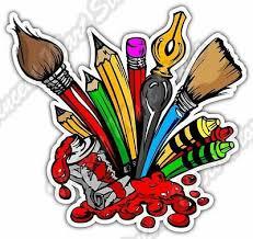 Paint Paintbrush Art Artist Painter Canvas Car Bumper Vinyl Sticker Decal 4 X5 Ebay