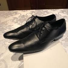 aldo shoes mens black dressy leather