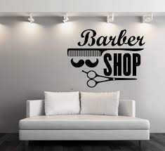 Large Vinyl Decal Wall Stickers Barber Shop Badges Tools Hair Salon Si Wallstickers4you