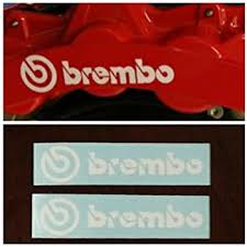 Amazon Com R G Brembo High Temp Brake Caliper Decal Sticker Set Of 2 Decals White Everything Else