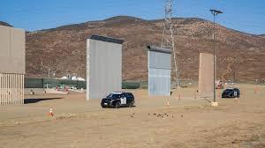 Trump Wall Prototypes Pop Up Near Us Mexico Border
