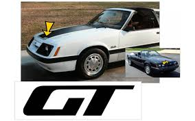 Graphic Express 1985 86 Mustang Gt Hood Decal
