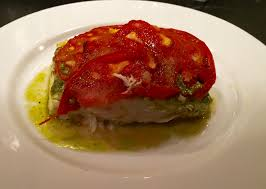 Roasted Halibut with Tomato and Pesto ...