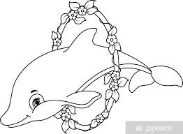 Fotobehang Dolfijnen Kleurplaat Pixers We Leven Om Te Veranderen
