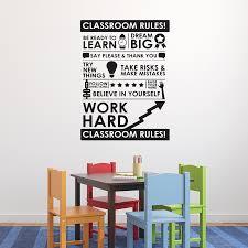 classroom rules wall art sticker