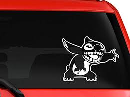 Amazon Com Stitch Cartoon Character Children Favorite Animation Car Truck Suv Window Laptop Kids Room Kitchen Wall Macbook Decal Sticker Approx 6x5 Inches White Computers Accessories
