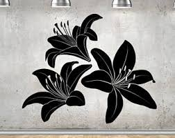 Lily Wall Decal Etsy