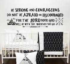 Joshua 1 9 Wall Decal Quote Be Strong Courageous Bible Verse Nursery Decor F33 Ebay