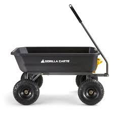 gorilla carts 115l poly dump cart