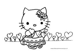 Hello Kitty Verjaardag Kleurplaten Met Hartjes Kleurplaten Voor Jou