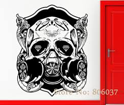 Removable Diy Wall Stickers Vinyl Decal Skull Scary Cool Gothic Decor Rock N Roll Special Home Decor Mural Adesivo Wa 31 Decoration Murale Decorative Rocksvinyl Decal Aliexpress