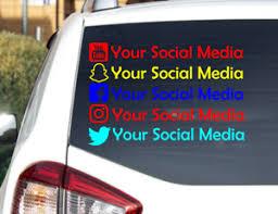 Snapchat Instagram Facebook Twitter Youtube Vinyl Car Decals Stickers Ebay