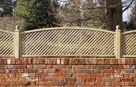 Diagonal Trellis Privacy Convex Arched Topper Panel Paint Options The Garden Trellis Company