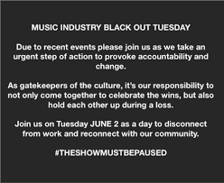 Music Industry Plans 'Blackout Tuesday ...