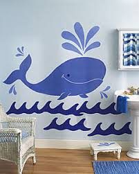 Huge 5 Blue Whale Wall Murals Ocean Waves Sea Life Jonah Nursery Decor Decals 71473143006 Ebay