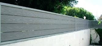 Image Result For Privacy Fence Above Wall Horizontal Vinyl Fence Fence Toppers Patio Fence