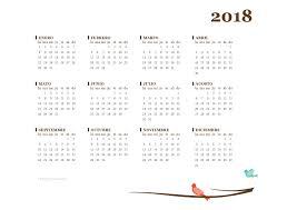Calendario 2018 Mas De 150 Plantillas Para Imprimir Y Descargar