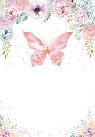 Pink Glitter Butterfly Invitacion De Cumpleanos En 2020
