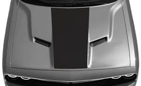 Dodge Challenger Center Hood Decal Vinyl Decal Graphic Striping Kit Fits Years 2015 2016 2017 2018 2019 2020 2021