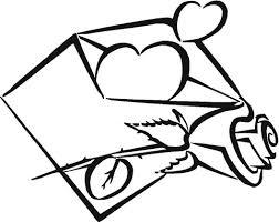 Mijn Hart Is In De Envelope Kleurplaat Gratis Kleurplaten Printen