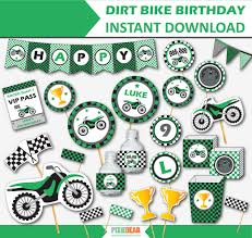 Dirt Bike Birthday Motocross Party Motorcycle Party Dirtbike